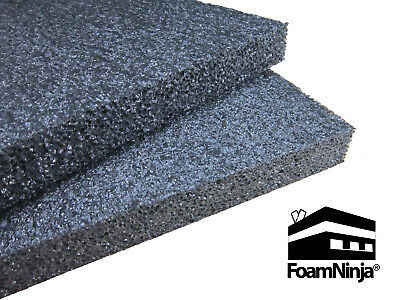 Polyethylene Foam Case Shipping Packaging 6 Pk 12x8x12 Charcoal Black 1.7pcf