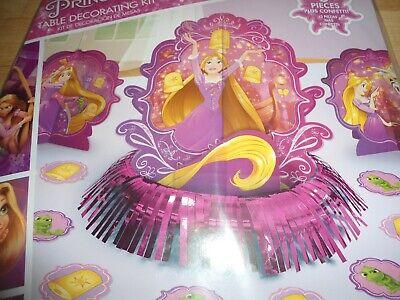 3pc NEW DISNEY TANGLED RAPUNZEL birthday party TABLE DECORATING KIT CENTER - Tangled Birthday Decorations