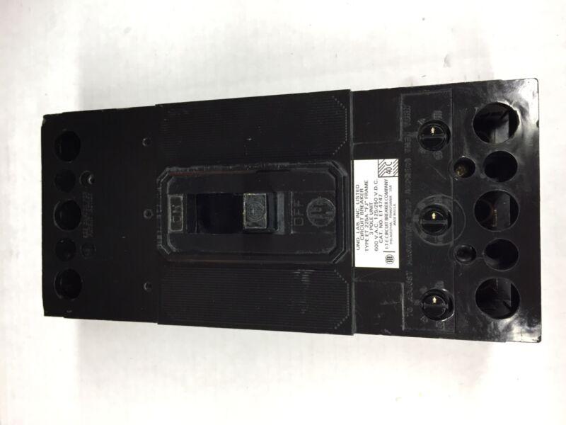 ET4747 ITE Gould Circuit Breaker 3 Pole 225A