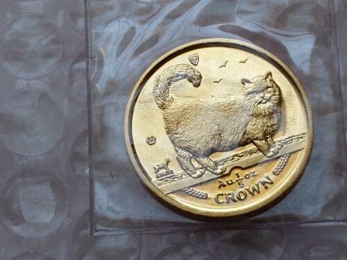 1998 Isle of Man Cat GOLD BIRMAN CAT COIN 1/5 oz. - POBJOY MINT SEALED