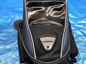 Tank bag aimanté Kappa pour moto avec sangle et pochettes