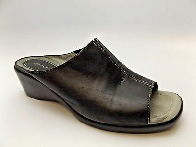 David Tate Womens Slide - DAVID TATE WOMEN'S GLORIA SLIDE, BLACK LAMB SANDALS SZ 8.0 M PRE OWNED D3968