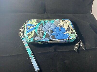 Vera Bradley Wristlet - Blue Black White - Excellent Condition