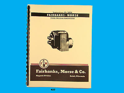 Fairbanks Morse Magneto Instruct Parts Manual For Fm-jg4a Mags 427
