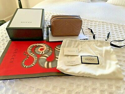Gucci Marmont GG Cosmetic Bag Rose Porcelain