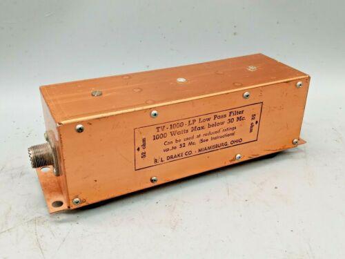 R.L. Drake TV-1000-LP  52 ohm Low Pass Filter (below 30 MHz)