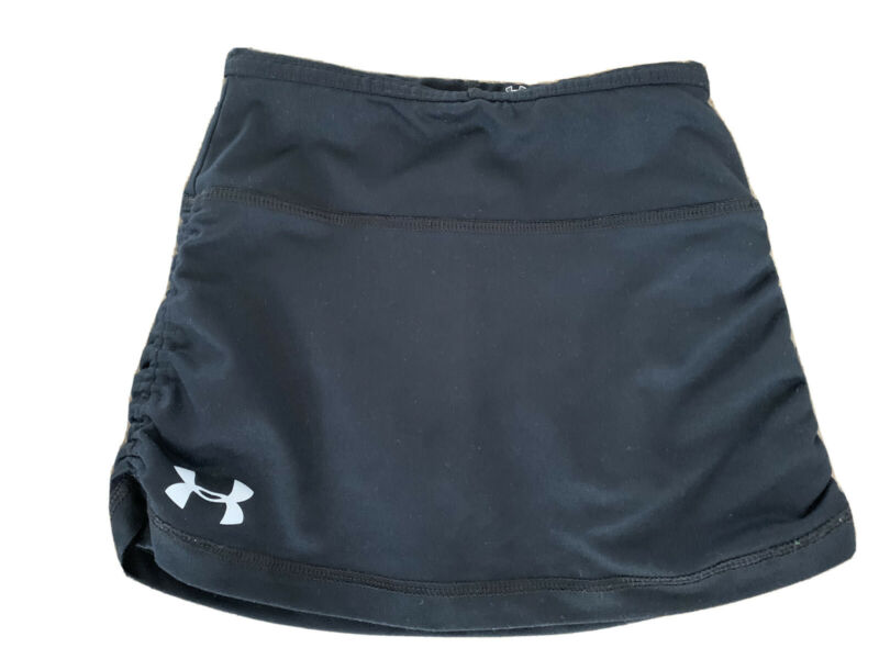 Black Under Armour Young Girls Tennis Skirt Skort Heat Gear Size 6X Athletic