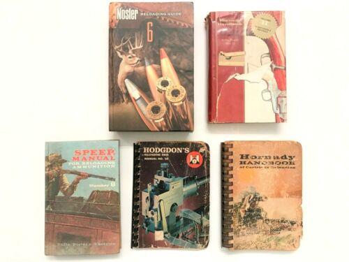 Vintage Lot Of 5 Ammo Reloading Spiral Books Speer Hornady Nosler Hodgdon