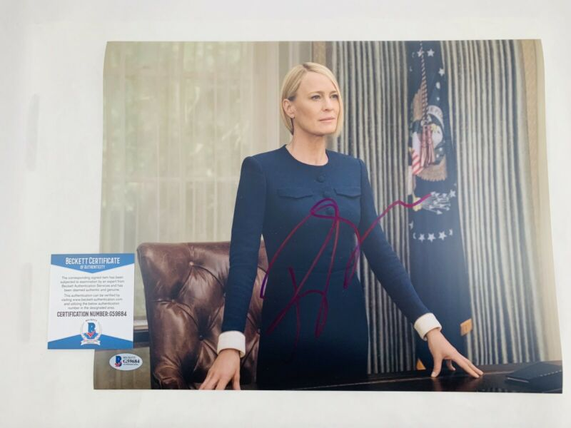 ROBIN WRIGHT SIGNED HOUSE OF CARDS 11x14 PHOTO AUTHENTIC BAS COA #G59684