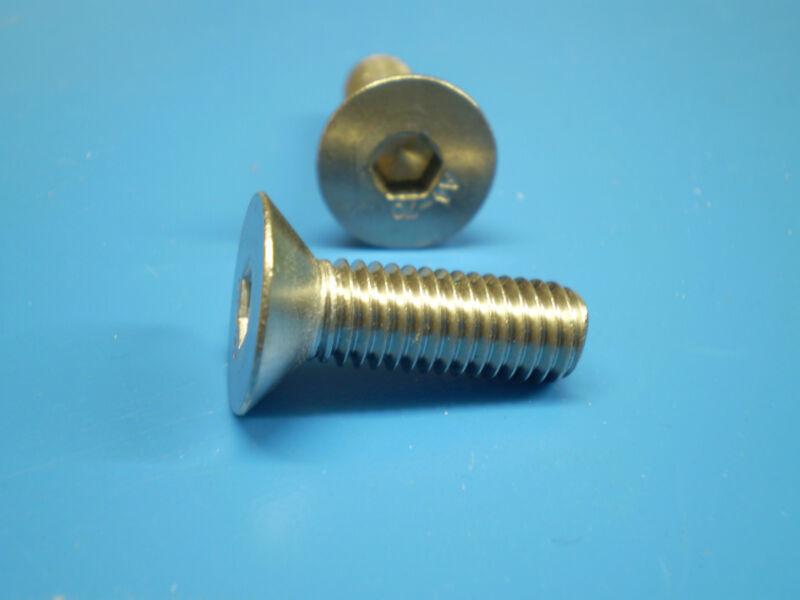 Vis /à t/ête frais/ée M6 /à six pans creux en acier inoxydable A2 V2A