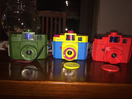 Lot of 3 x Holga 120 CFN Medium Format Film Cameras Glebe Inner Sydney Preview