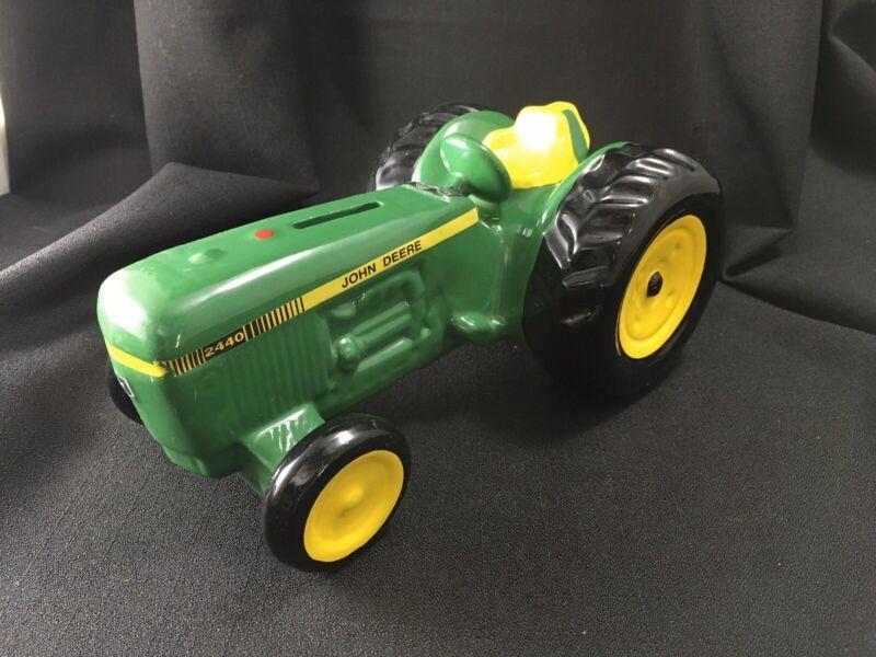 John Deere Ceramic Tractor Bank Vintage 2000