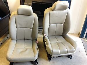 Infiniti G35 leather front seats tan