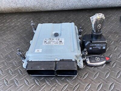 ✔MERCEDES R231 SL550 ENGINE COMPUTER DME ECU MODULE IGNITION SWITCH WITH KEY OEM