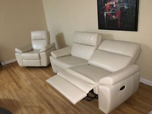 White leather NEW couches