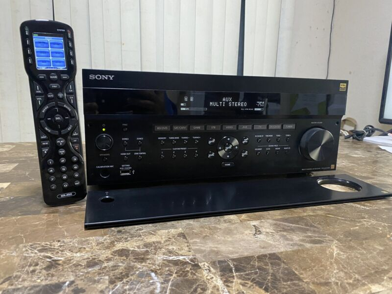 SONY STR-ZA1100ES 100 Watt 7.2 Channel, 2-Zone, 4K AV Receiver Bundle URC Remote
