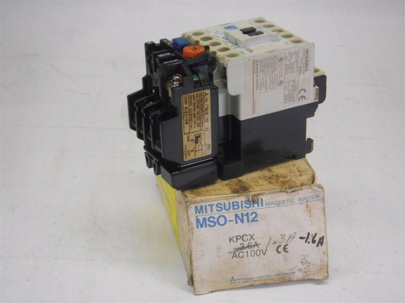 New Open Box Mitsubishi MSO-N12 Contactor S9-4