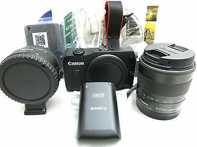 Canon Digital Adapter (Canon EOS M 18MP digital camera kit w. 18-55mm / 22mm lenses, flash, adapter kit)