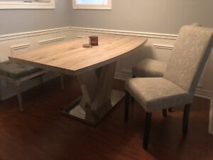 Dining Table + 2 Chairs + Bench
