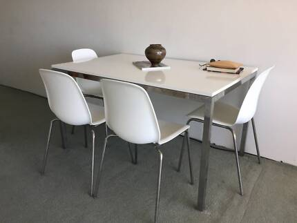 White IKEA Torsby Table And 4 Chairs, In Excellent Condition