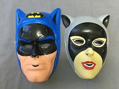 BATMAN & CATWOMAN SET PVC SUPERHERO VILLAIN HALLOWEEN MASKS