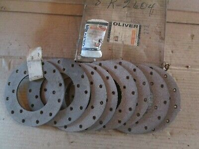 Oliver Tractor 77s7788s88770880 Brand New 8 Brake Linings With Rivet Nos