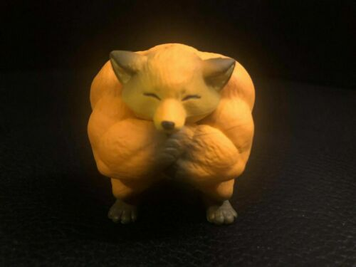 Muscle Muscular animal Red Fox PVC Mini Figurine Figure Model