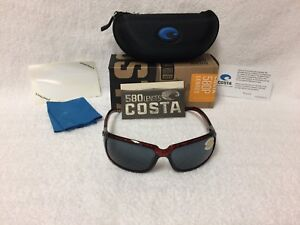 5f17362cbb NEW Costa Del Mar Isabela Polarized Sunglasses Tortoise Gray 580P IB 10 OGP