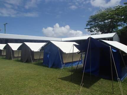 For sale by tender – 14 heavy duty vinyl tents