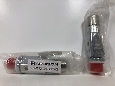 Lot Of 2 Harrison Cga870 Medical Oxygen Valves 1906012 1906 V9 Iso U12