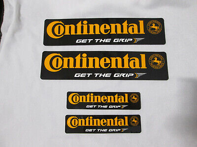 Continental Tire Decal Stickers w/ horse logo Black Orange - Large or Small NEW (Tire Horse)