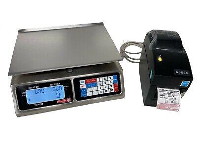 Torrey Lpc40 X .01lb Price Computingdelimeat Scale Wgodex Dt2 Label Printer-shi