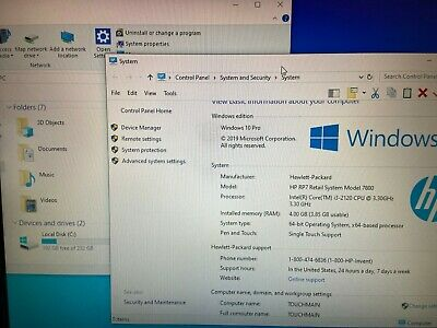 Used Hp Rp7 Rp7800 15 Aio Pos System - I3 Cpu 4gb Win10 X64