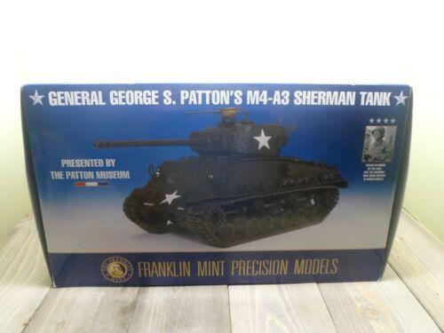 FRANKLIN MINT PATTON M4-A3 SHERMAN TANK WWII 1/24 SCALE B11ZO48