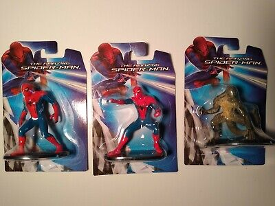 """Lot Of 3 Amazing Spiderman Mini Figures or Cake Toppers Lizard Marvel 3"""""""