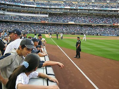 2 - Front Row Field Level Section 109 New York Yankees Tickets v Detroit 4/1/19