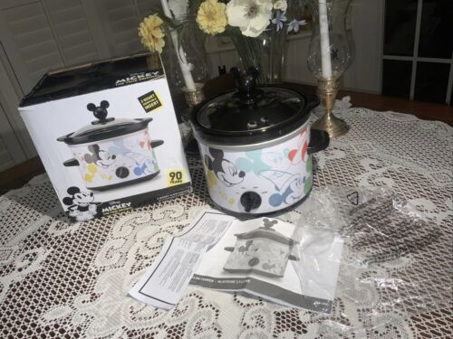 One New in box Disney Mickey Mouse 90th Anniversary Slow Cooker Crock Pot 2qt