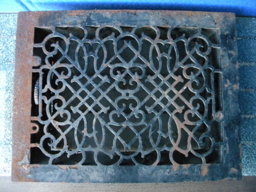 Vintage Cast Iron Louvered Floor Heating Vent Register