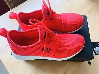 ARMANI Sneaker Damen Gr. 38 UK 5,5 US 6 rot Mesh