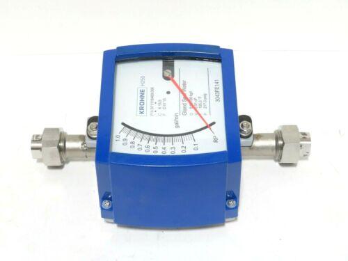 "1/2"" Krohne H250/RR/M9 FNPT Stainless Steel Variable Area Flowmeter NEW 2013 (A)"