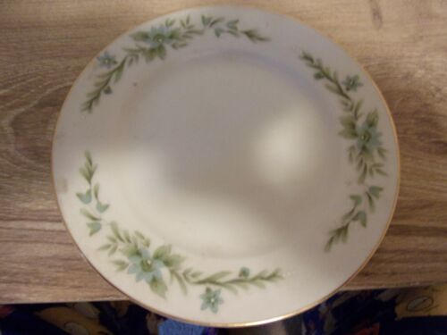 WHIT WITH GREEN FLOWERS CREATIVE MANOR FINE CHINA JAPAN PLATE