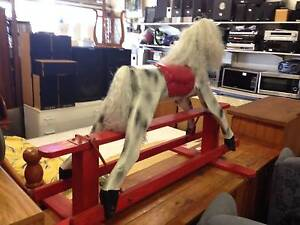 Antique Rocking Horse -  Wooden Inala Brisbane South West Preview