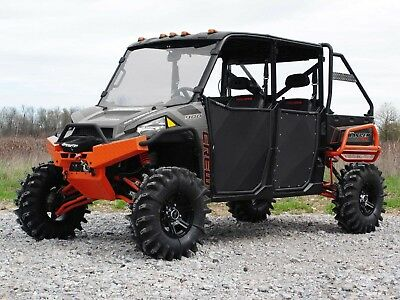 SuperATV Heavy Duty Aluminum Doors for Polaris Ranger XP 900 Crew (2013+)