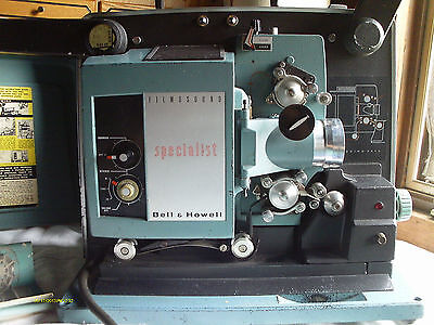 Vintage Bell & Howell Specialist Filmosound Autoload Projector Model 550 Working on Rummage