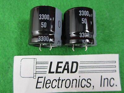 2pcs Nichicon 3300uf 50v Snap-in Electrolytic Aluminum Capacitor