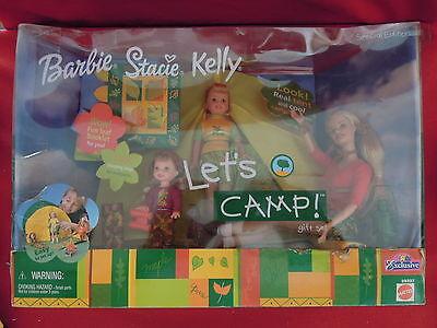 2001 Barbie Stacie Kelly Let's Camp Gift Set In Original Unopened Package