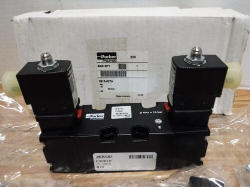 Parker 29124MTA Pneumatic Valve Schrader Bellows, 24V COILS