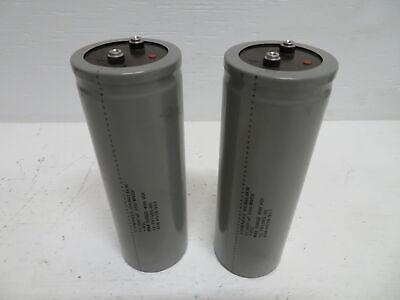 Lot Of 2 Cornell Dubilier 12-791985-00 Capacitor 12000 Uf 350 W Vdc 400 Vdc Gray