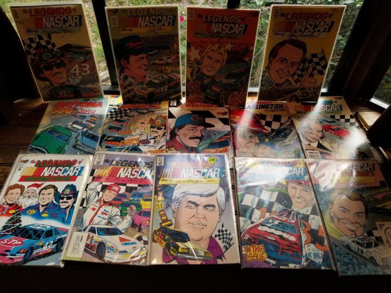 NASCAR Comic Lot x14 Adventures Racing, Daytona 500 story,Legends/Petty, Allison