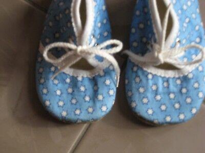 Baby Schuhe mit Sternchen Hausschuhe Lauflernschuhe Gr. 19 für Jungen o. Mädchen